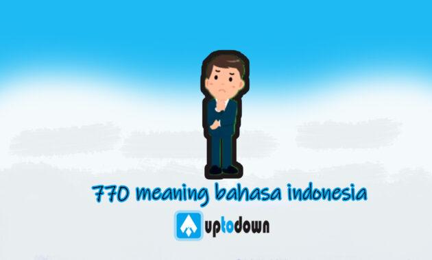 kode 770 indonesia