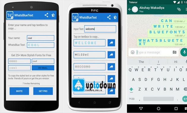 Cara Membuat Text Berwarna di Whatsapp Dengan Whatsbluetext Apk